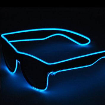 Safety LED Festival Sunglasses - 7 Neon Colors