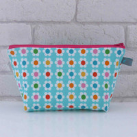 Modern Floral Cosmetic Bag / Makeup bag / Wash Bag