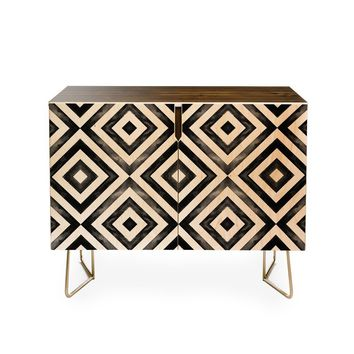 Credenza by Little Arrow Design Co. WATERCOLOR DIAMONDS