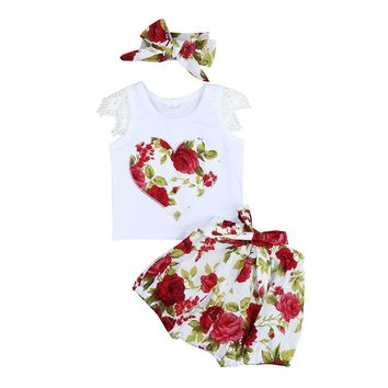 Baby girls 2 pieces set  with matching headband for Free!