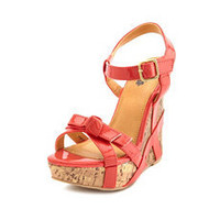 Patent Bow Wedge Sandal: Charlotte Russe