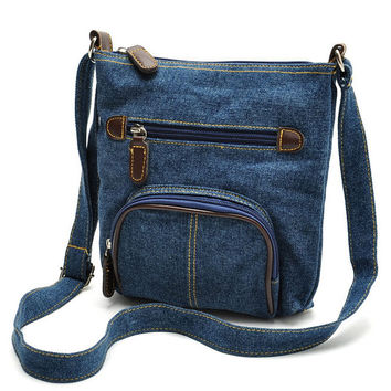 Denim Messenger Bag