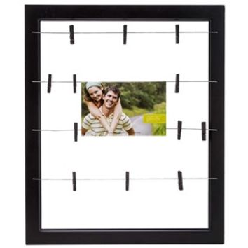 "20"" x 24"" Black Collage Frame with Clips 