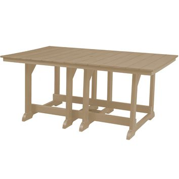 "Wildridge Outdoor Recycled Plastic Heritage Table 44"" x 72""  - Ships in 10-14 Business Days"