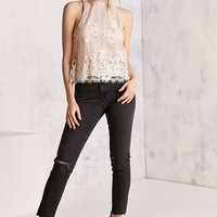 Kimchi Blue Tilly Lace Mock-Neck Top - Urban Outfitters