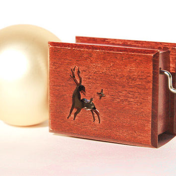 Christmas gifts for men reindeer Jingle Bells unique art box vintage style ornament