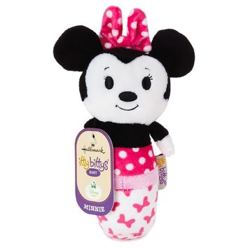 Hallmark Keepsake Itty Bittys Minnie Mouse Baby Rattle Plush New with Tags