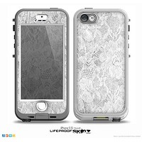 The White Textured Lace Skin for the iPhone 5-5s NUUD LifeProof Case