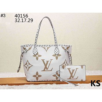 LV 2019 new women's shopping bag tote bag handbag letter bag two-piece #3