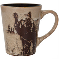 Bear North American Woodlands Glazed Coffee Mug