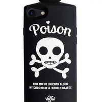 Poison 3D Phone Case for iPhone 7 or 8 in Deathly Black