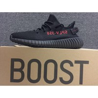 Adidas Yeezy 350 Boost V2 all black and red
