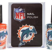 NFL Miami Dolphins Two-Pack Team Colored Nail Polish