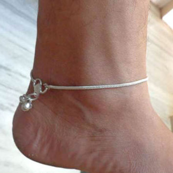 anklet,foot chain,gypsy foot jewelry,indian anklet,slave anklet,ankle bracelet,belly dance  jewelry,chain anklet,ethnic indian anklet