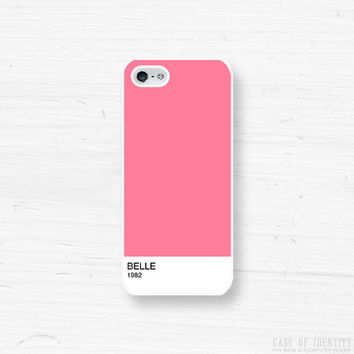 Personalise iPhone Samsung Case - 5, 4 Galaxy s2 s3 s4 note, Ipod Touch 4, 5, Blackberry - Colour Block - Pink