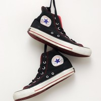 Black and Red Converse All Star Hightops