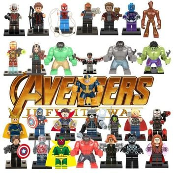 Deadpool Dead pool Taco Avengers Super Heroes Building Blocks Compatible with LegoINGlys Marvel Toys For Kid Iron Man Thor Ant man  Thanos Hulk AT_70_6