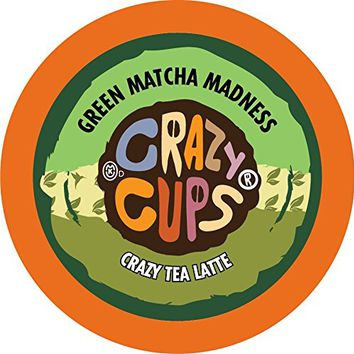 Crazy Cups Latte Tea, for the Keurig K Cups Coffee 2.0 Brewers, Green Matcha Madness, 22 Count
