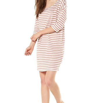 Stripe Dropped Shoulder Dress