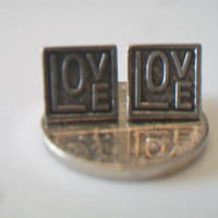 Square Heart Post Earrings Geometric Costume Jewelry Valentine's Day