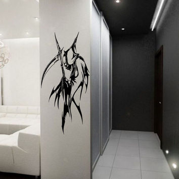 Anime decal, Anime Vinyl, Grim Reaper Anime Stylish Wall Art Sticker 10284