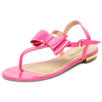 Pink bow flat sandal - View All Shoes  - Shoes