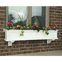 SheilaShrubs.com: Fairfield 5' Window Box - White 5824W by Mayne: Planters