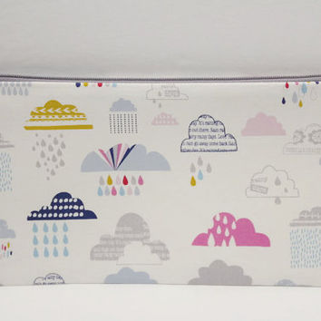 Clouds Planner pencil pouch  Cloud Dog, Cloud Pencil Pouch, Pencil Case, Bible Journaling, Zipper Pouch