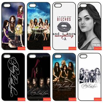 quote pretty little liars PLL Pattern Hard Plastic Phone cover case for iphone 5 5S SE 6 6S S plus 7 7plus 8 8plus X cover