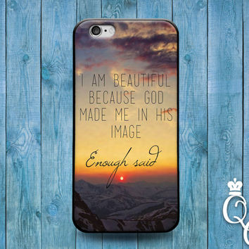 iPhone 4 4s 5 5s 5c 6 6s plus iPod Touch 4th 5th 6th Generation Cool Christian Woman Fun Girly Girl Ocean Sunset Phone Cover Cute Quote Case