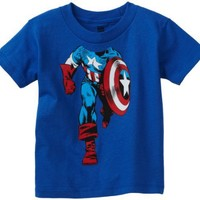 Marvel Boys 2-7 Captain America Headless Toddler License T-Shirt