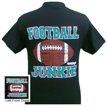 Girlie Girl Originals Football Junkie Blue Bright T Shirt