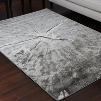 5604 Gray Carved Contemporary Area Rugs