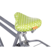 SüLi Bicycle Seat Cover Green & White Polka Dot