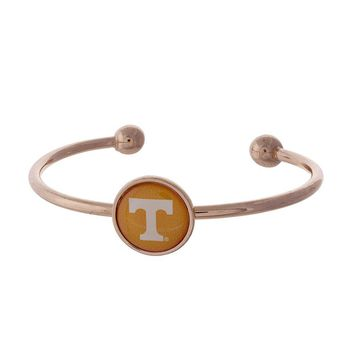 University of Tennessee Cuff Bracelet Rose Gold or Silver