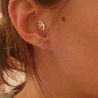 Sparrow Bird Tragus Piercing Earring
