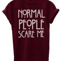 Normal People Scare Me Funny Mens T-Shirt [Apparel]