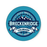 Breckenridge Logo Color Sticker