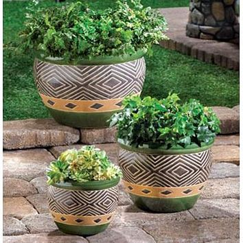 Hunter Tribal Planter Trio