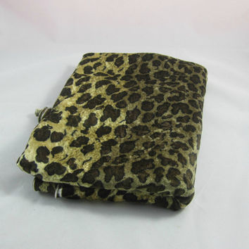Stretch Knit Fabric Leopard Spot Animal Print Safari Golden Brown 69 x 45