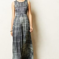 Shibori Maxi Dress by Anthropologie Blue