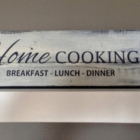 Pallet Wood Sign - Home Cooking - Breakfast - lunch - dinner, home decor gift, rustic sign, pallet sign, farmhouse decor