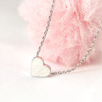 Back to the Basic-Tiny heart Necklace in silver