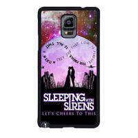 sleeping with sirens infinity quote galaxy design samsung galaxy note 4 note 3 cover cases