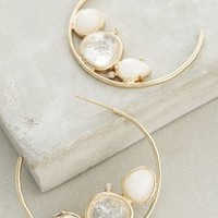 Evening Droplet Hoops by Anthropologie in White Size: One Size Earrings