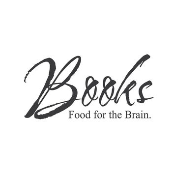 """wall quotes wall decals - """"Books-food for the brain"""""""
