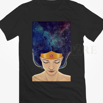 Wonder Women Hair Galaxy Unisex/Men Tshirt All Size