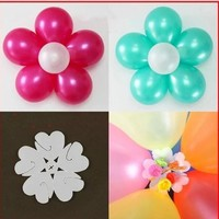 5pcs 7cm 6 Balloons flower shape clip Foil latex balloon Flower air balls inflatable toy wedding party Kids Toy Ball decorantion