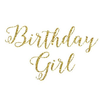 DIY Birthday Girl Iron-On Glitter Vinyl - Vinyl Glitter Iron-On - 5 Glitter Colors -  Birthday Girl Clothing - Birthday Shirt Iron-on