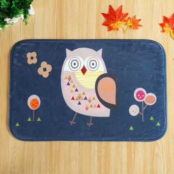 40 * 60 cm horse cat owl rugs Bedroom carpet Cartoon MATS doormat bath mat water - absorbing doormat bath mat non - slip pad